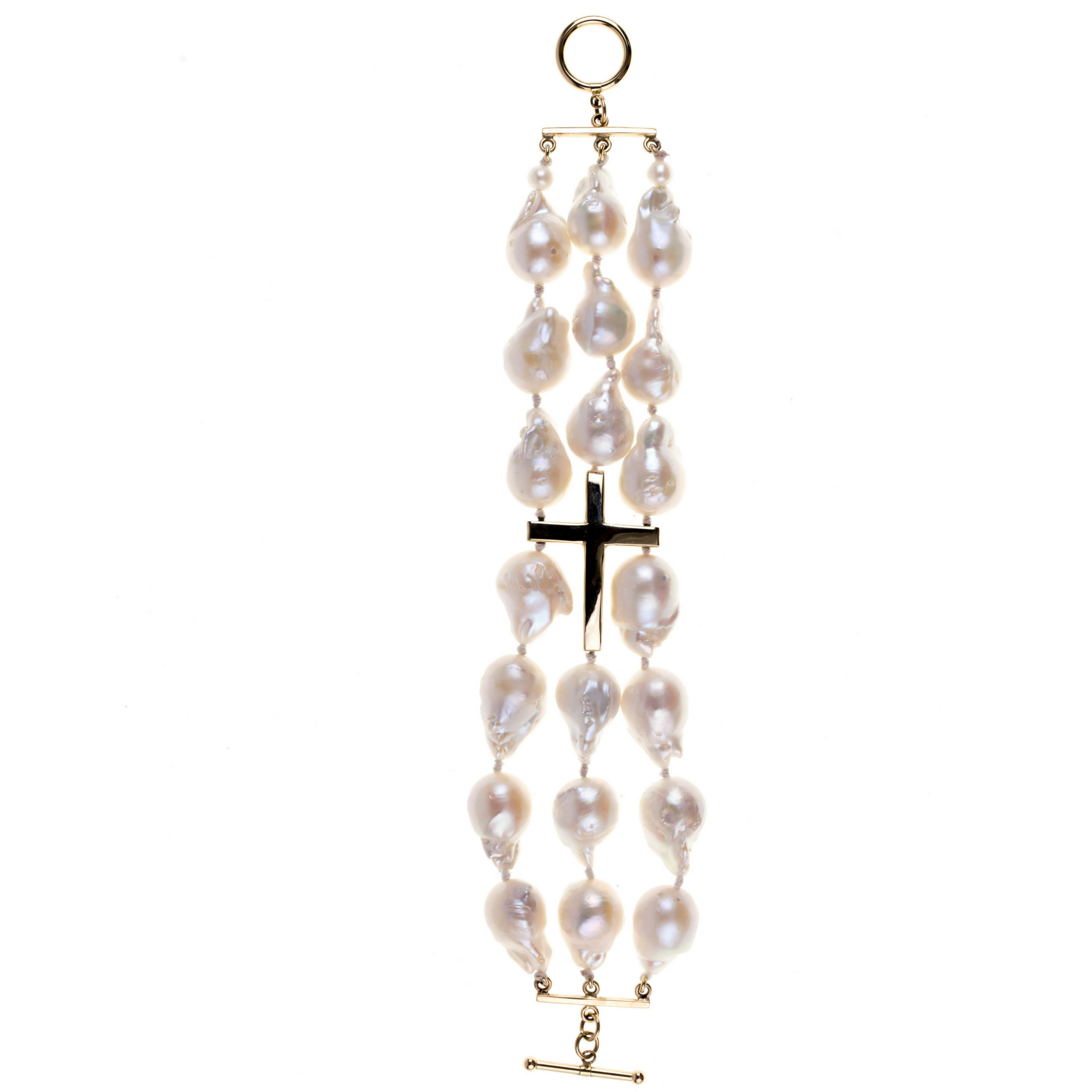 14k Gold and Freshwater Pearl Bracelet