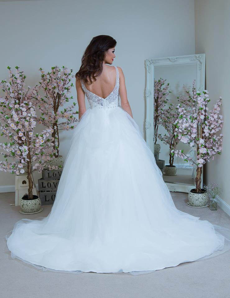 The Ginevra | Two Strap Tulle Princess Ball Gown Wedding Dress ...