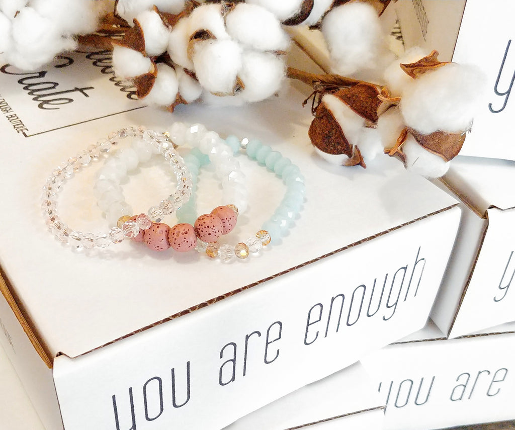 Enough Diffuser Bracelet Stack- WHITE