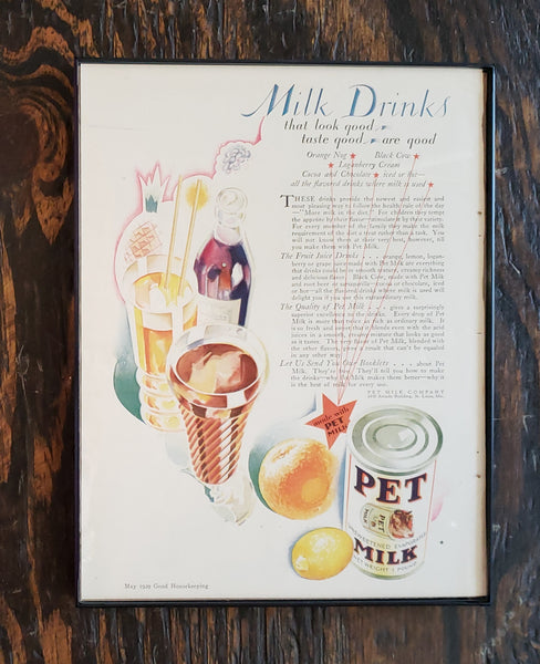 1929 Pet Milk Magazine Ad