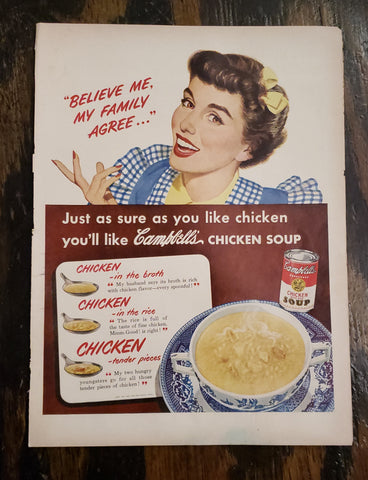 1950 Campbell's Soup Magazine Ad