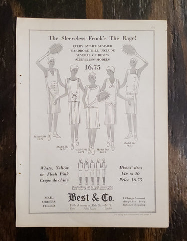 1929 Best & Co. Magazine Ad