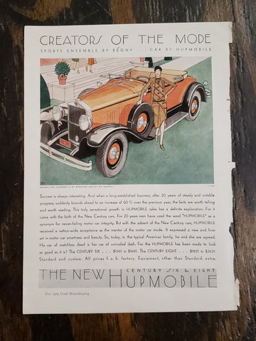 1929 Hupmobile Magazine Ad