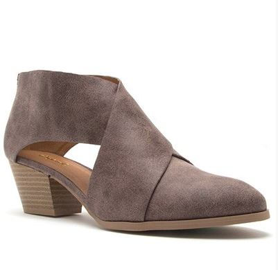 Brown Crisscross Bootie