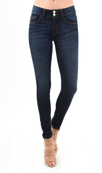 Double Button KanCan Skinny Jeans