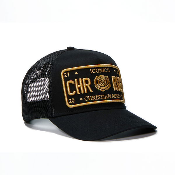 Black/Yellow Trucker Cap