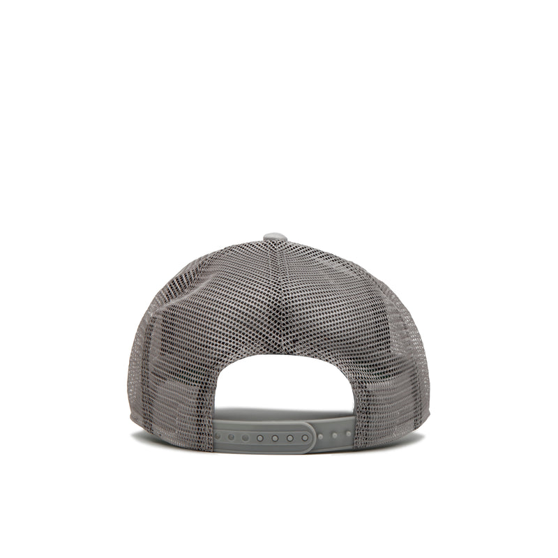 Stone Grey / Black Patch Trucker Cap