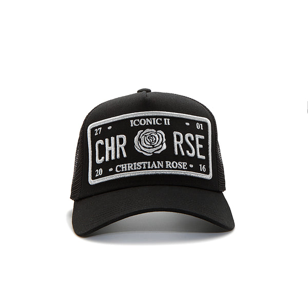 Black/Silver Trucker Cap