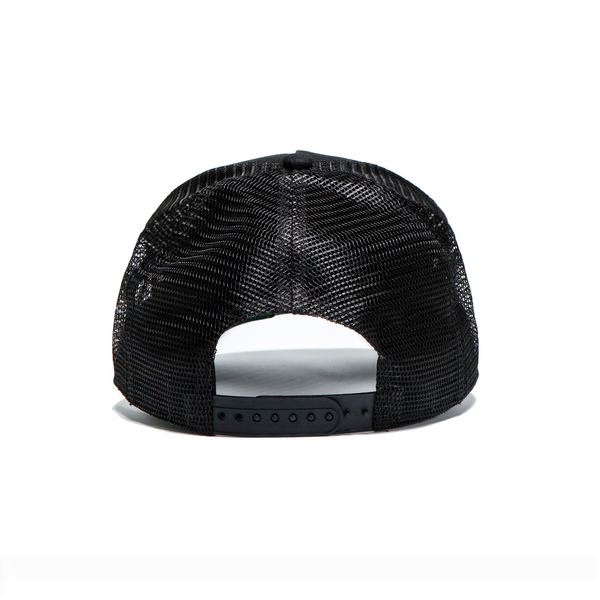 Black / Black Patch Trucker Cap