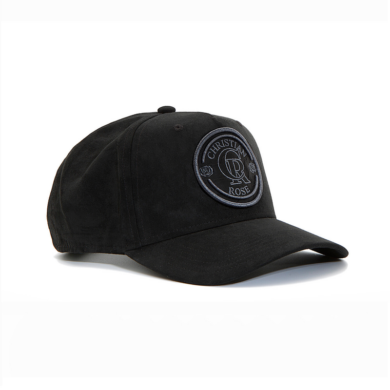 Black Suede Trucker Cap