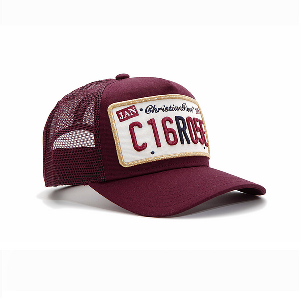 Burgundy / Gold Trucker Cap