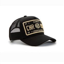 Black/Gold Trucker Cap