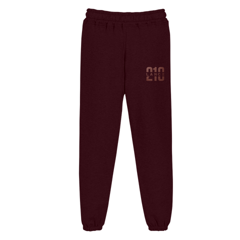 210 Maroon Foil Sweatpants