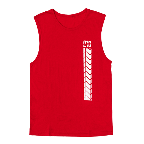 210 Tire Track Muscle Tank (Red)