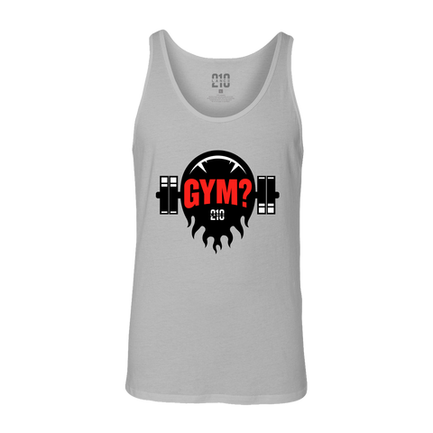 Gym? Tank Top (Grey)  Lance Stewart Official Lance210 Merch Store - Shop T-shirts, beanies, snapbacks, pop sockets, hoodies and more! As Seen On YouTube, Vine, Instagram, Facebook and Twitter