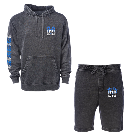 210 Racing Flag Hoodie + Shorts (Mineral Wash)
