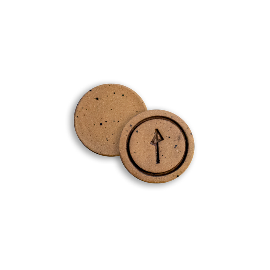Clay Ball Mark (Black, Circle)