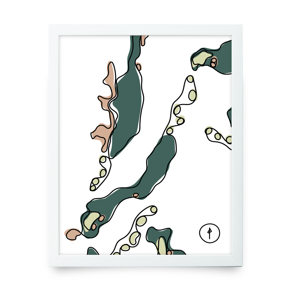 Bandon White Giclée print (Walnut Poster Rails)