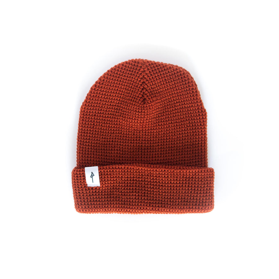 Waffle Knit Beanie - Coral