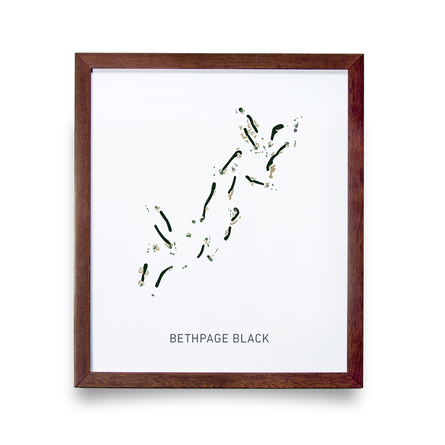 Golf Art - Bethpage Black Giclée Print (No Frame)