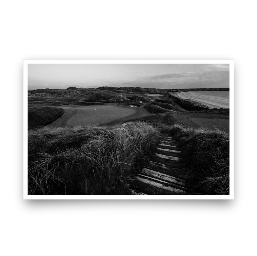 Golf Art - Black Rocks Beauty Giclée Print (No Frame)