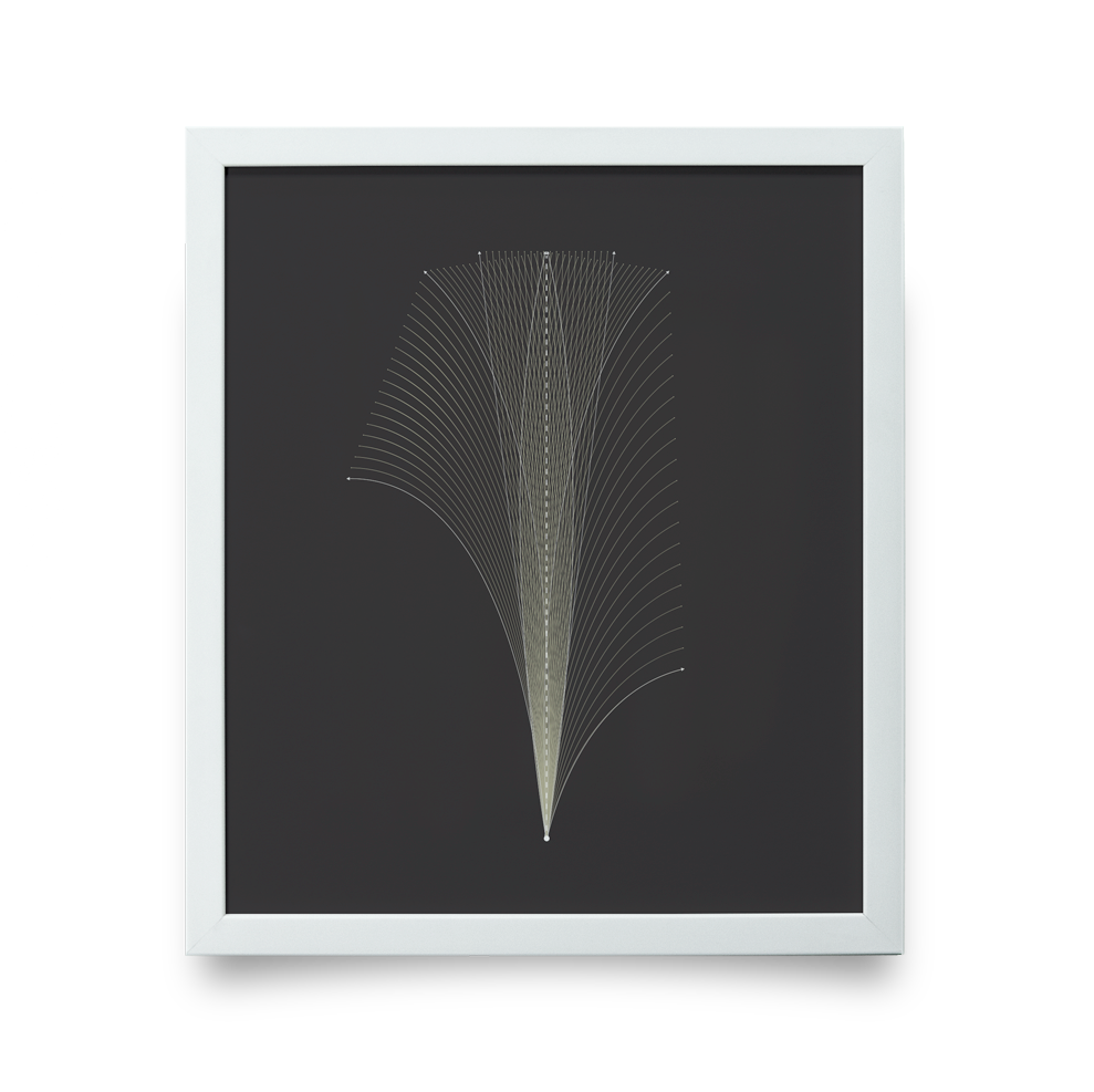 Golf Art - Flight Path Giclée Print (White Wood Frame)