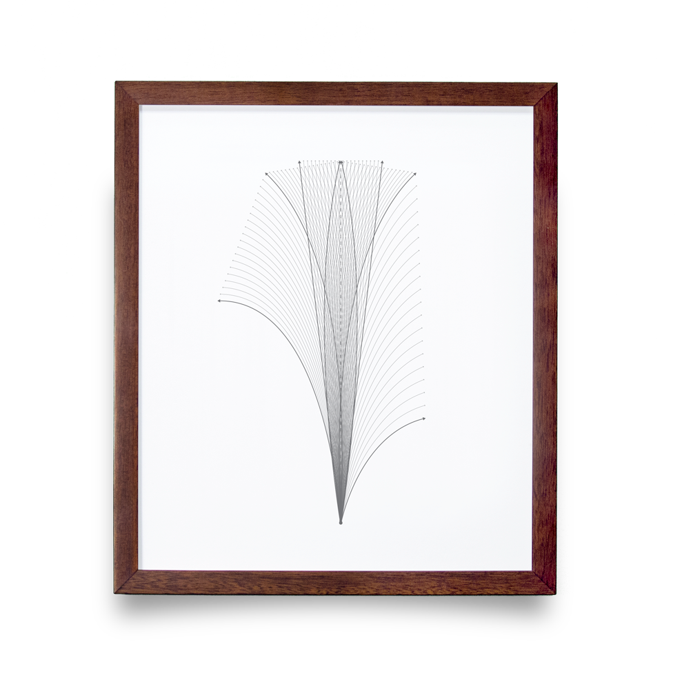 Golf Art - Flight Path Giclée Print (Walnut Wood Frame)