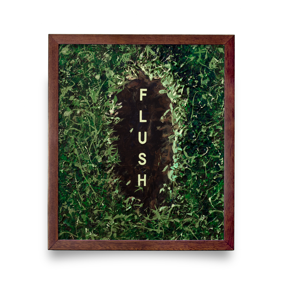Golf Art - Flush Giclée Print (Walnut Wood Frame)