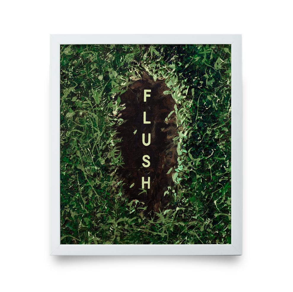 Golf Art - Flush Giclée Print (White Wood Frame)