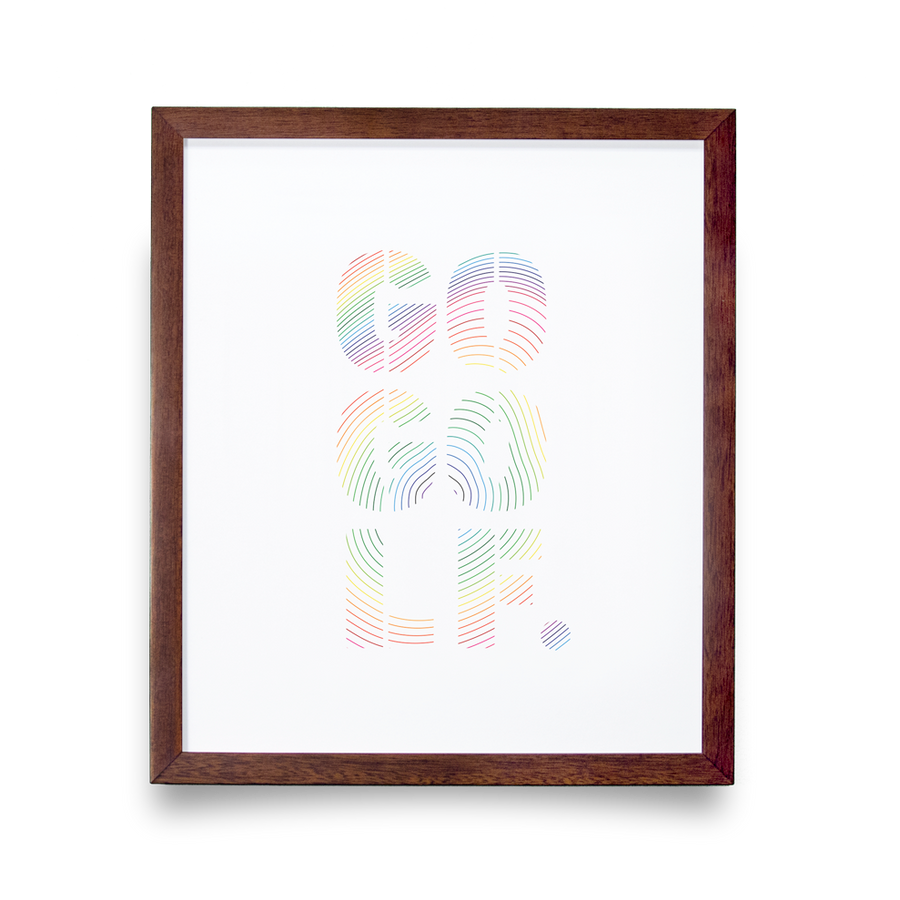 Golf Art - Go Golf Giclée Print (No Frame)