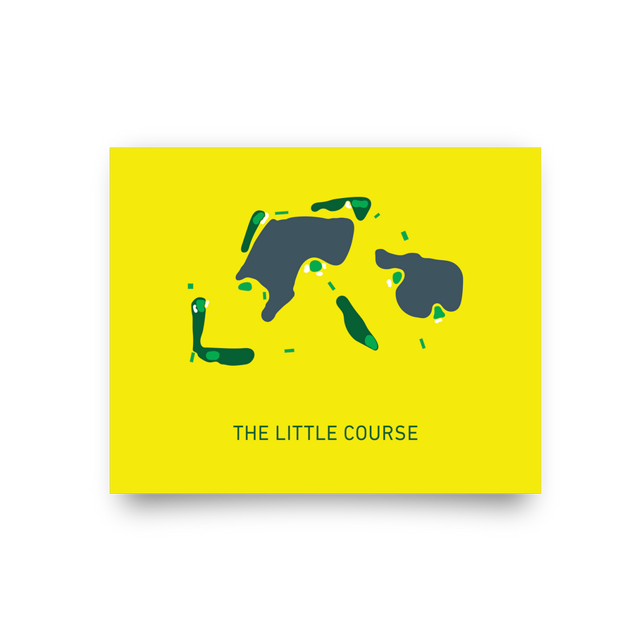 Golf Art - The Little Course Giclée Print (No Frame)