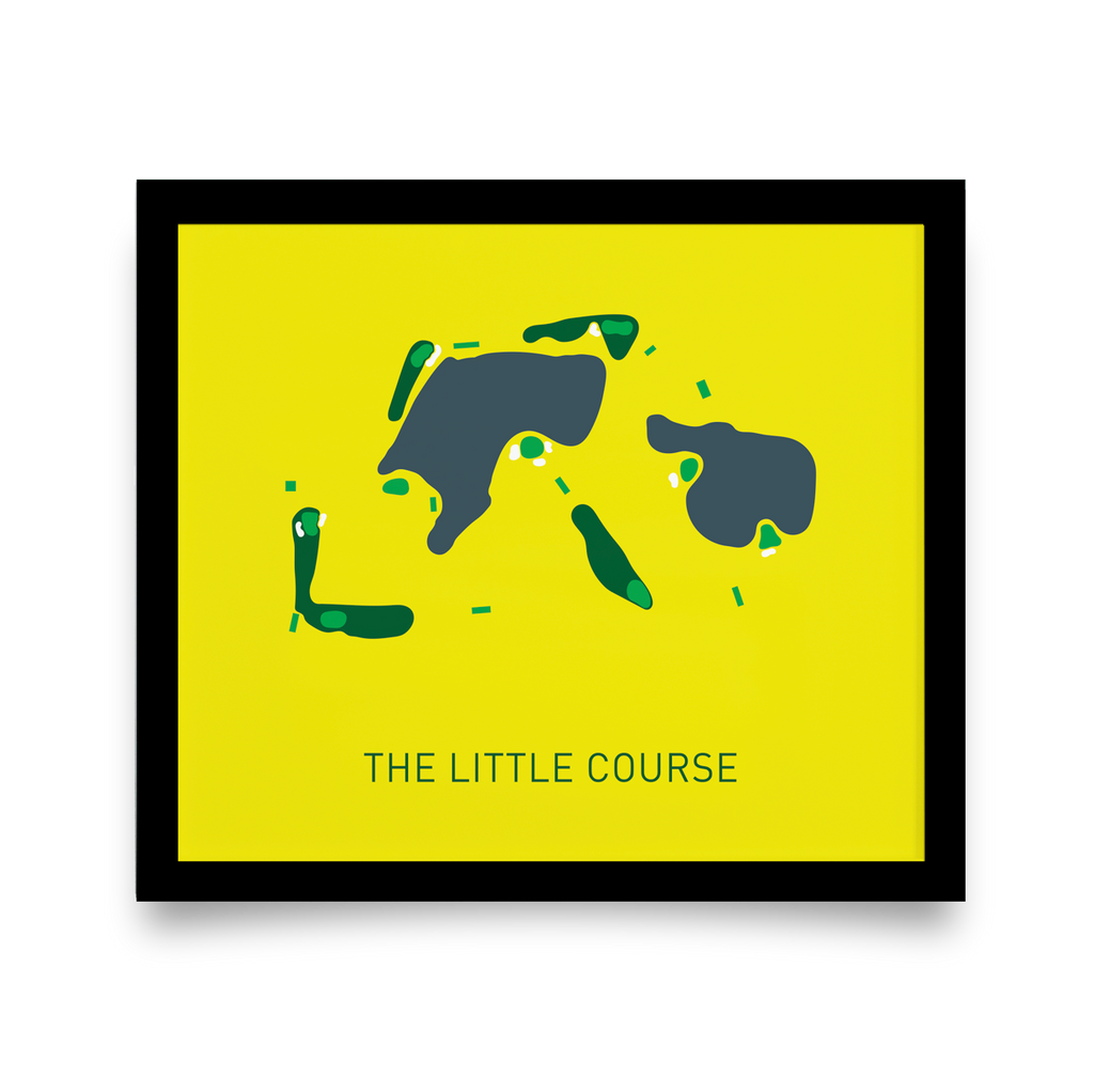 Golf Art - The Little Course Giclée Print (Black Wood Frame)