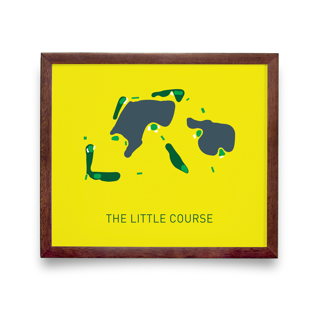 Golf Art - The Little Course Giclée Print (Walnut Wood Frame)
