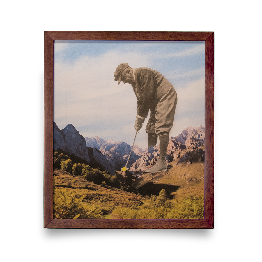 Golf Art - Mind Over Matter Giclée Print (No Frame)