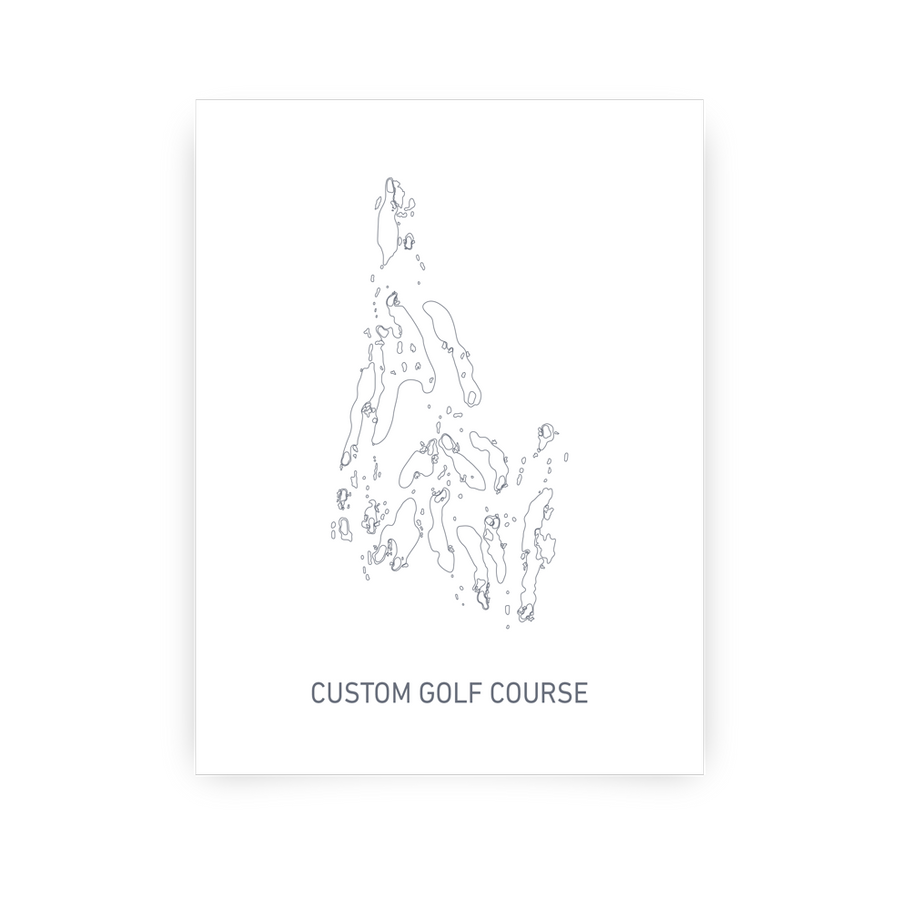 Custom Course Map - Modern