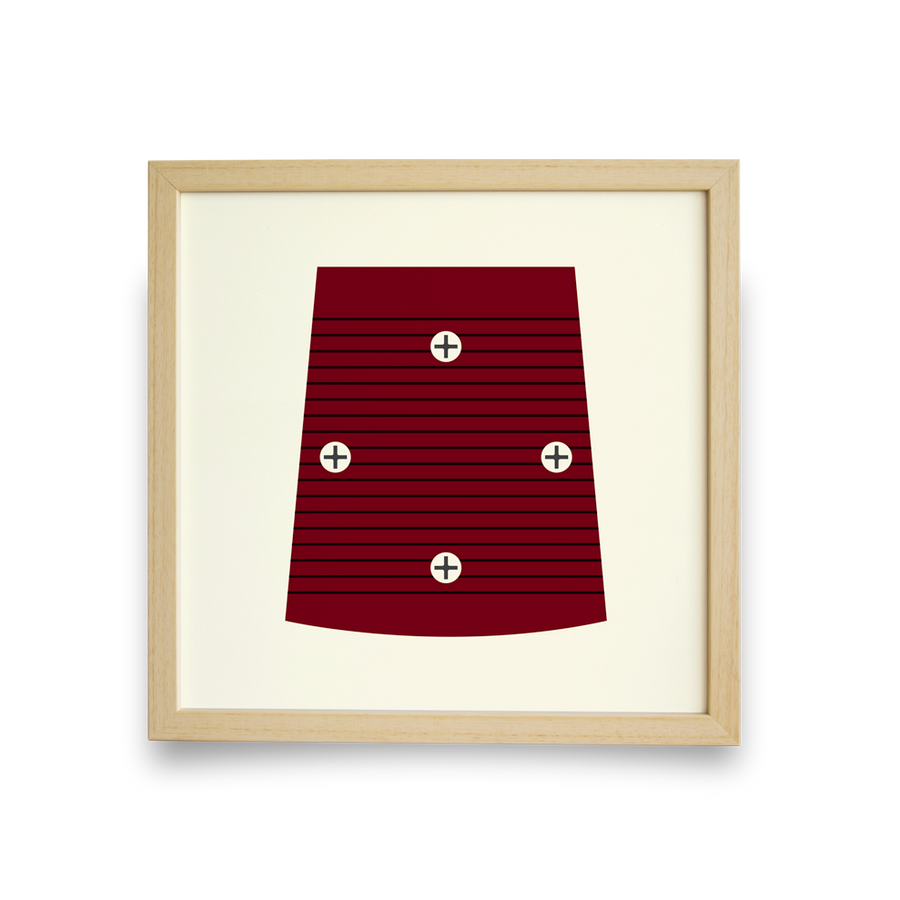 Golf Art - On The Screws Red Giclée Print (No Frame)