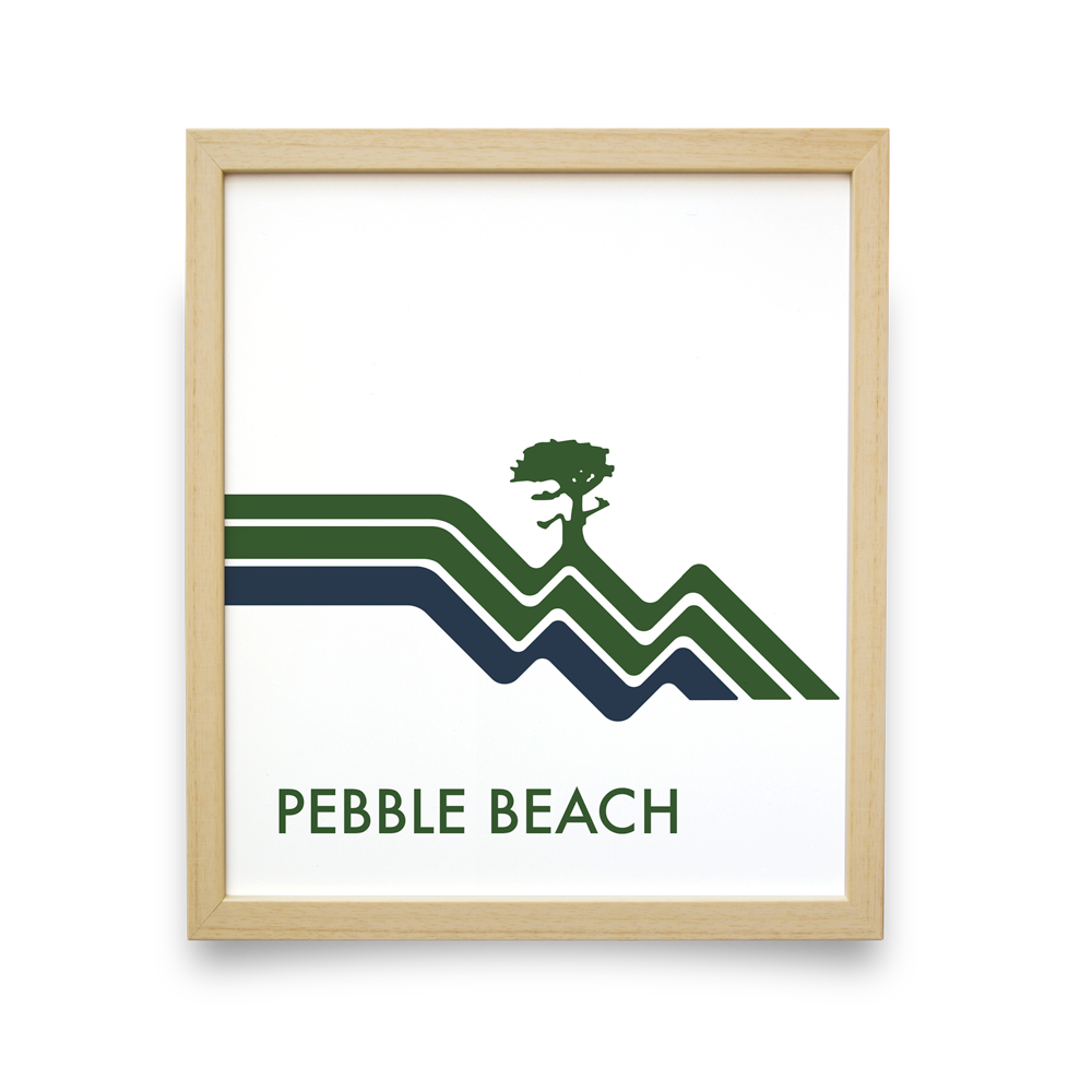 Pebble Beach Waves (White)