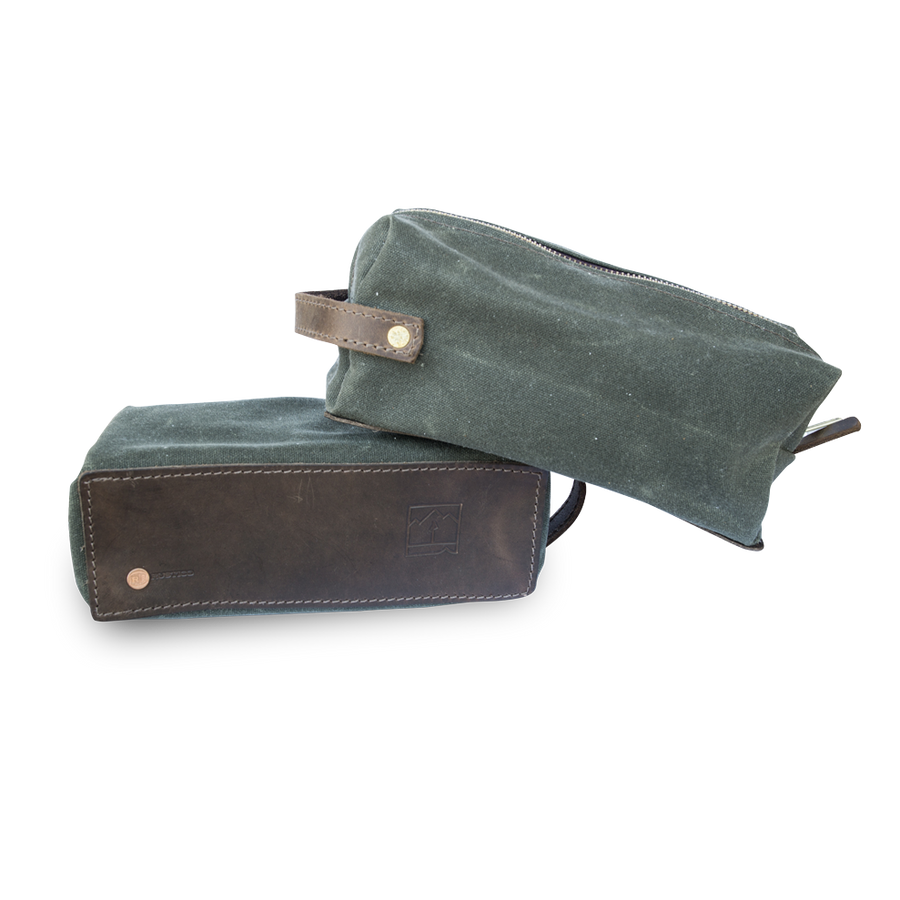 Landmark Waxed Canvas Dopp Kit