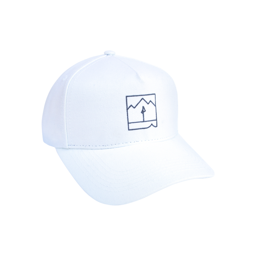 Landmark Pre-curved Hat (White)