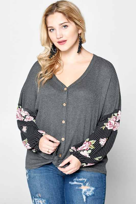 Charcoal Rose Top