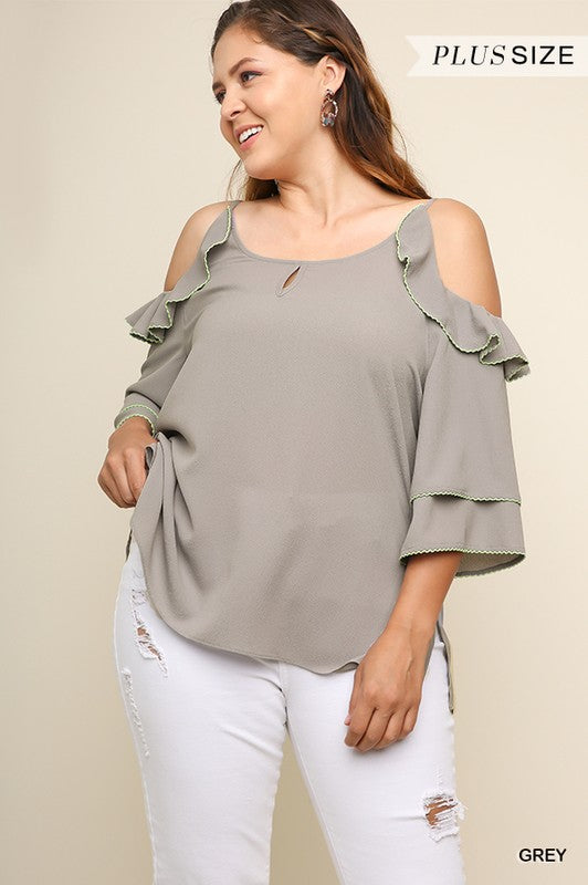 Dove Ruffle Top