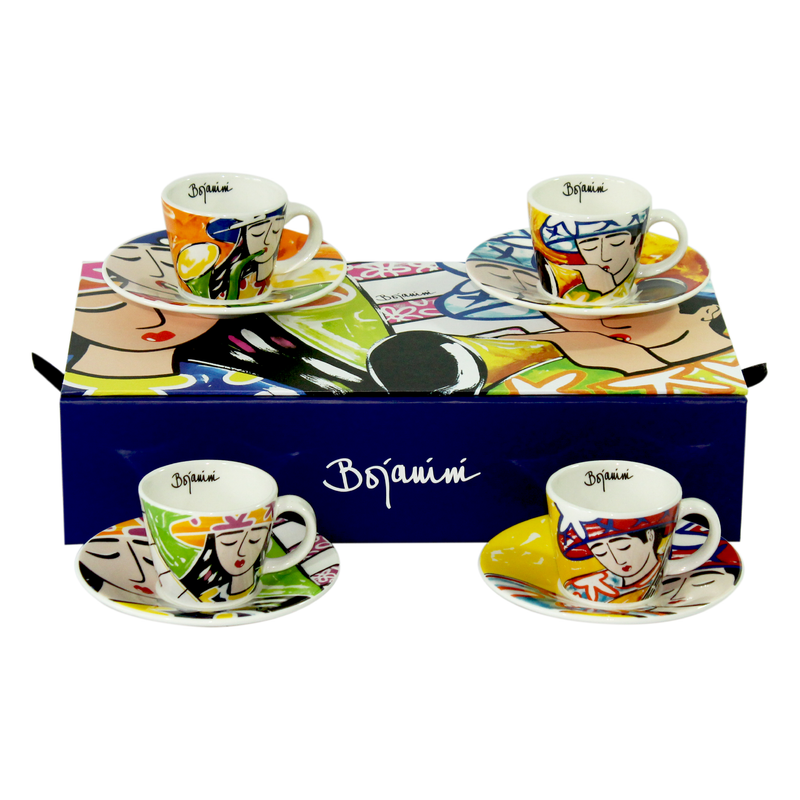 Musicians inspired striking espresso set available online