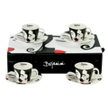 Espresso Set for coffee lovers - romantic exclusive design by bojanini