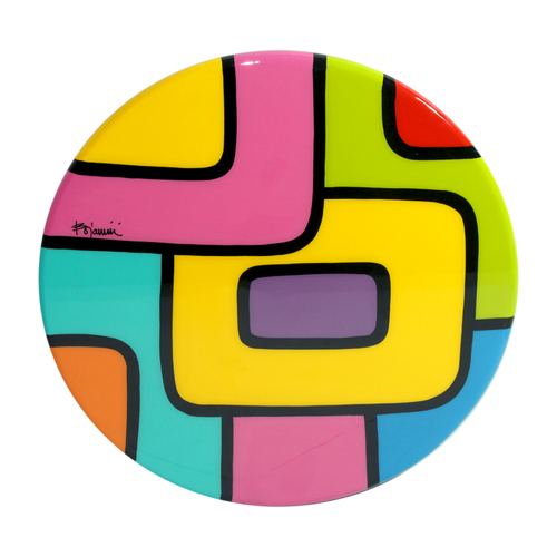 Bojanini - Lazy Susan  M - Colorful Squares - Unique Piece