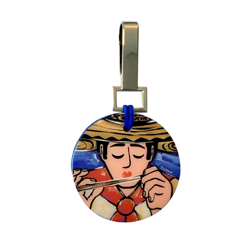 artistic circular keychain for woman or man with sophisticated taste available online