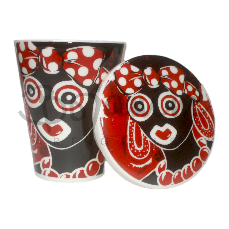 Carnival black and red la puloy coffee mug