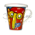 Carnival vibrant coffee mug exclusive hand painted design available online