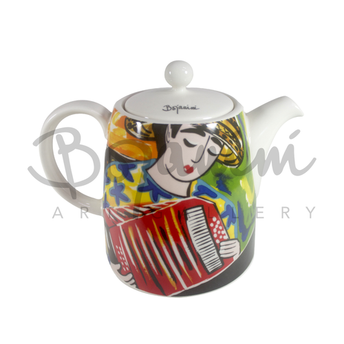 Ceramic Tea Pot - Trumpeter Design - Available Online