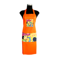 Orange artistic Apron for cooking ideal for men and women