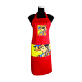 Red Artistic Apron for cooking ideal for men and women